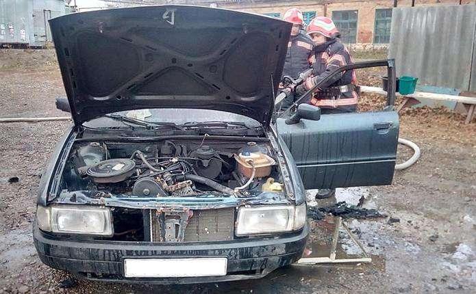 На Прикарпатті горів автомобіль «Ауді»