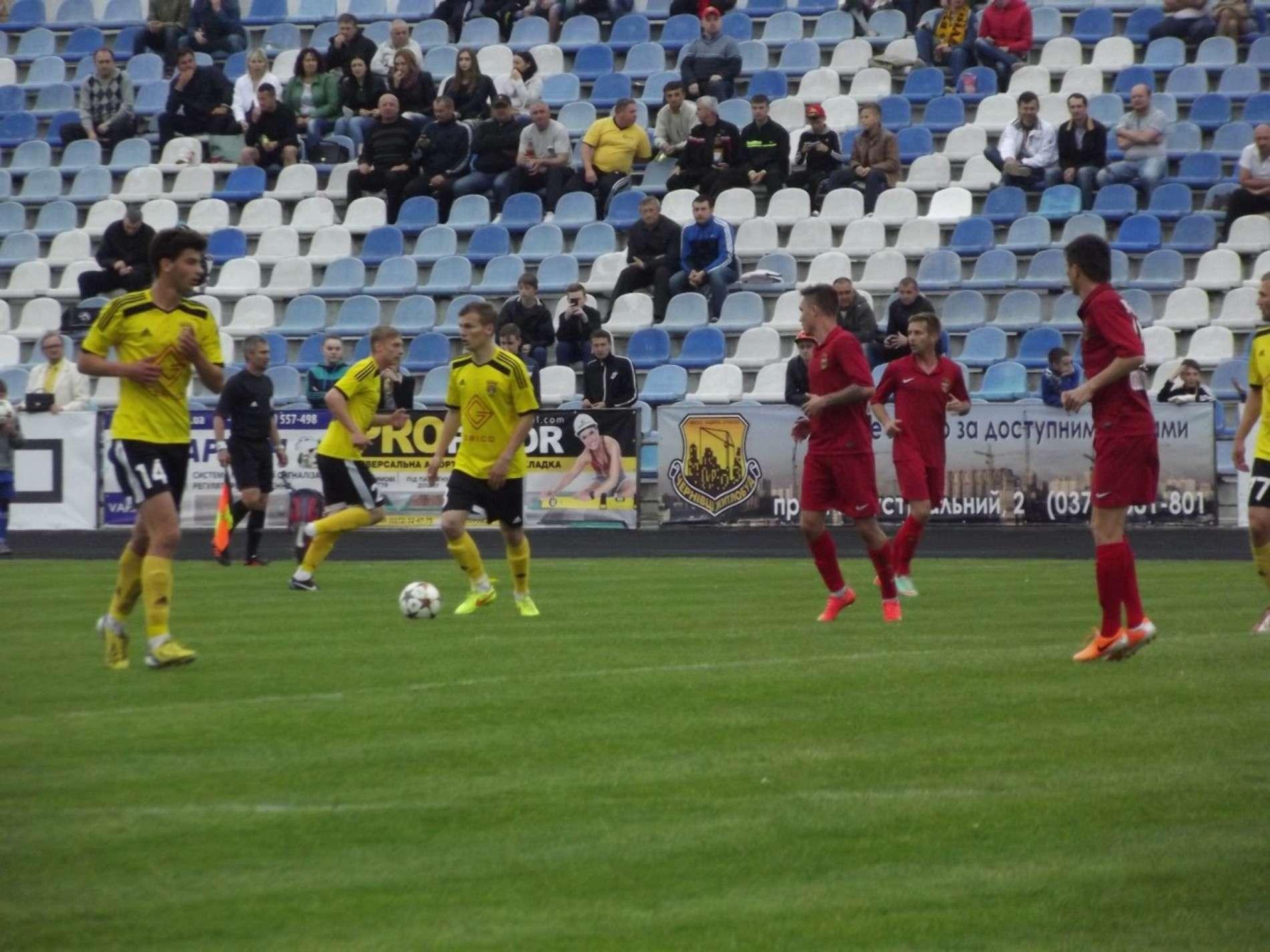 Чернівецька Буковина поступилася харківському Геліосу з рахунком 0:1