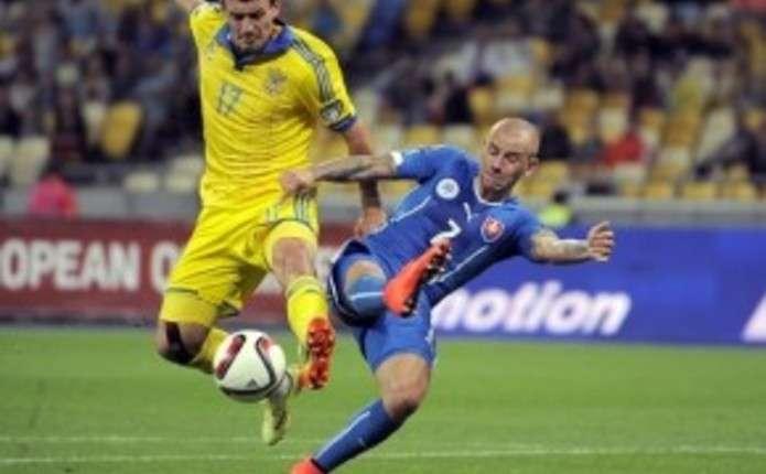 Збірні України та Словаччини зіграли внічию у матчі відбору Євро-2016