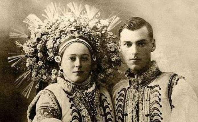 Як виглядали українські молодята століття тому