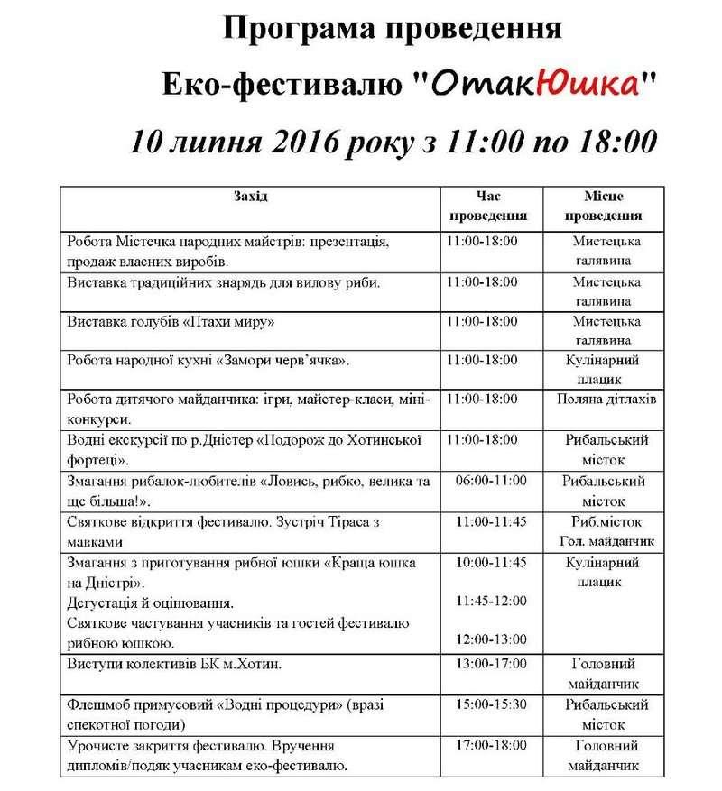 10 липня на Буковині проведуть еко-фестиваль ОтакЮшка: Програма заходу