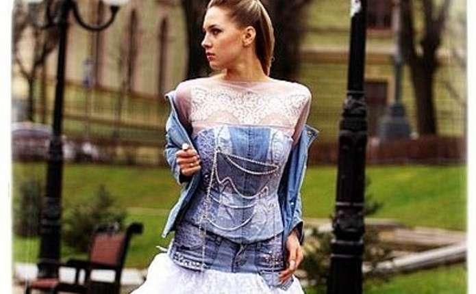 Джинсова весільна сукня - це модно і красиво