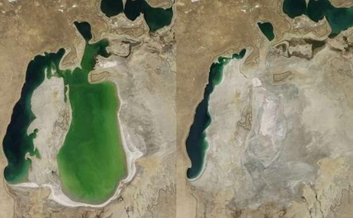 НАСА показало, як висихало Аральське море
