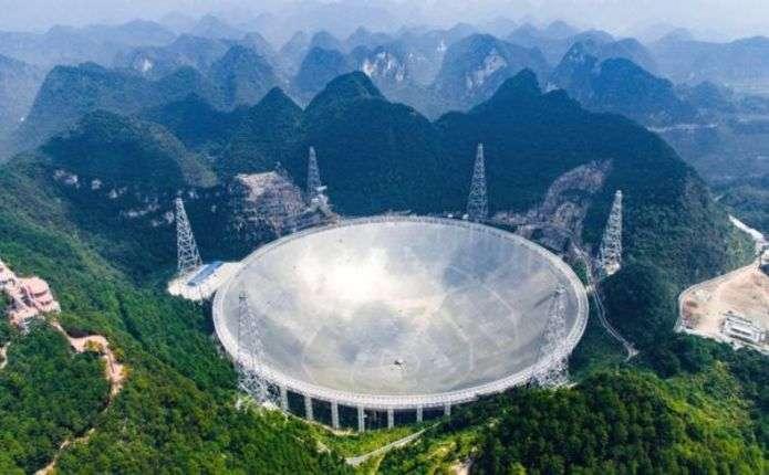 У Китаї розпочав роботу найбільший у світі радіотелескоп