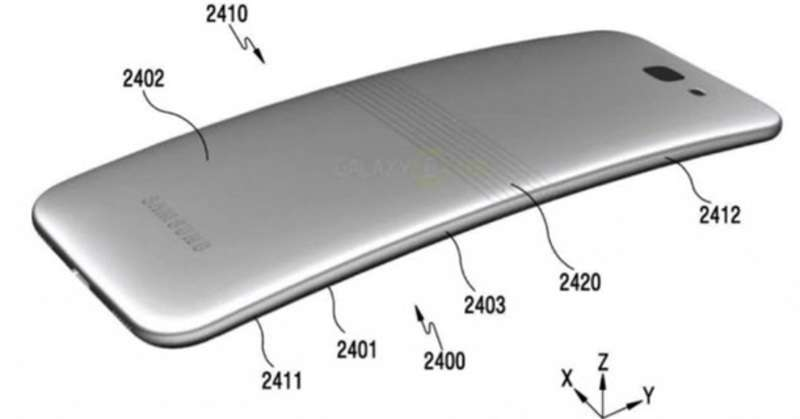 Опубліковані фото смартфона Samsung з екраном, що згинається