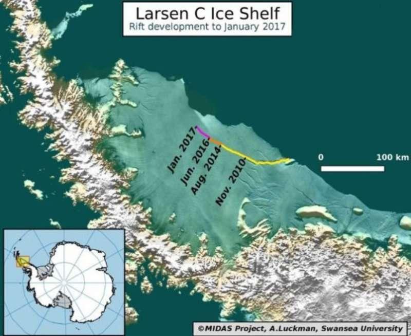 Від Антарктиди відколюється айсберг, за площею як дві третіх Чернівецької області