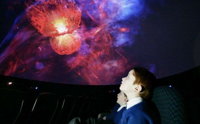 У Чернівцях презентували мобільний планетарій