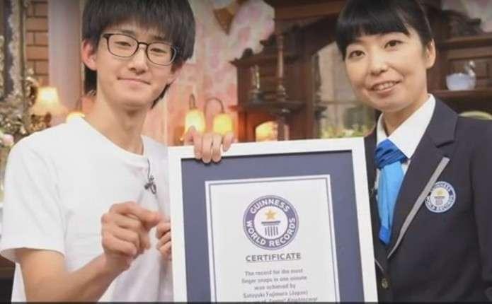 Студент з Японії встановив світовий рекорд клацання пальцями