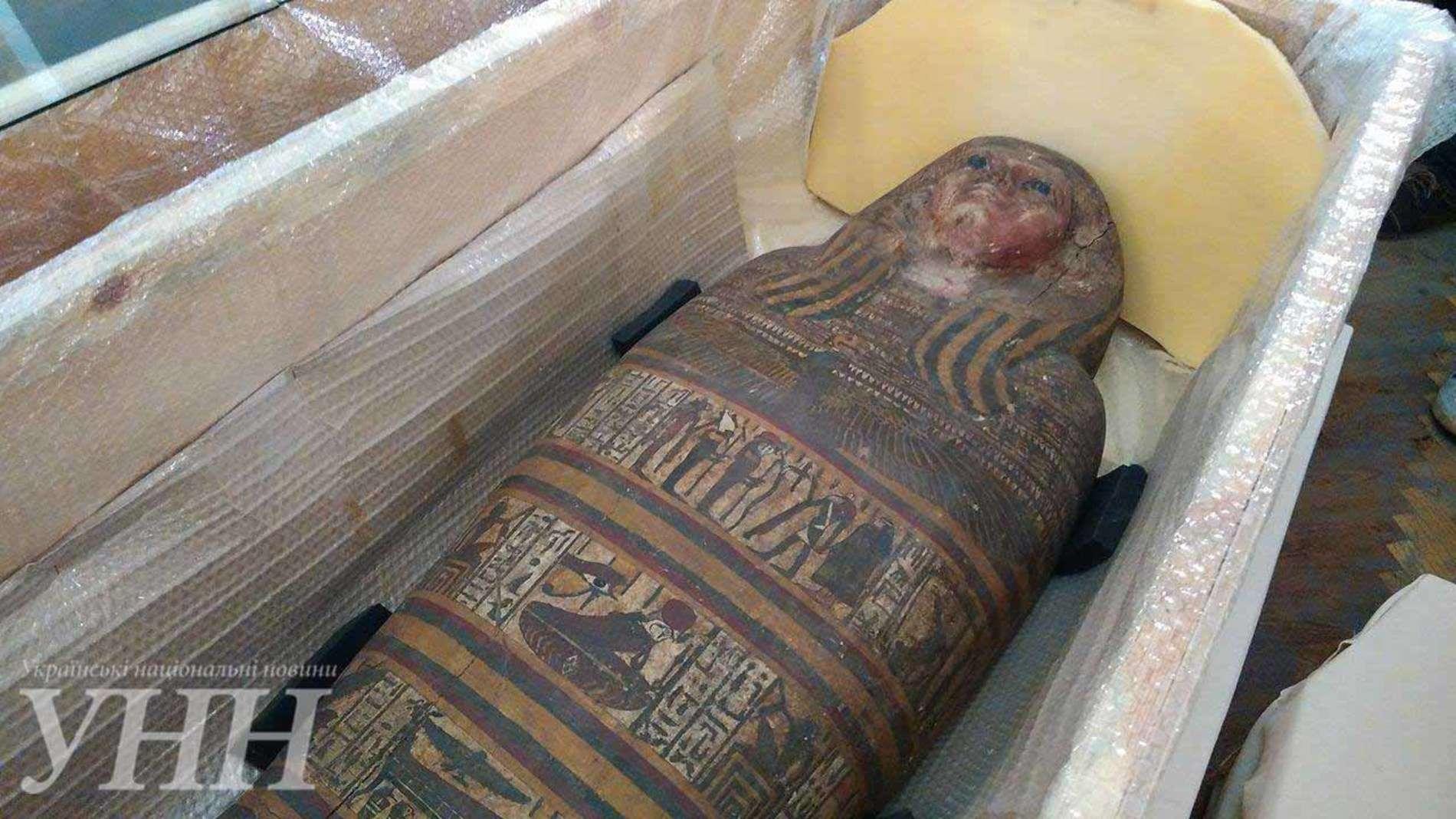 Києво-Печерська лавра показала знайдену давньоєгипетську мумію