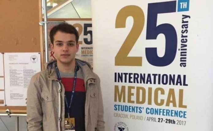 Студент-медик з Чернівців став призером Міжнародної конференції в Польщі