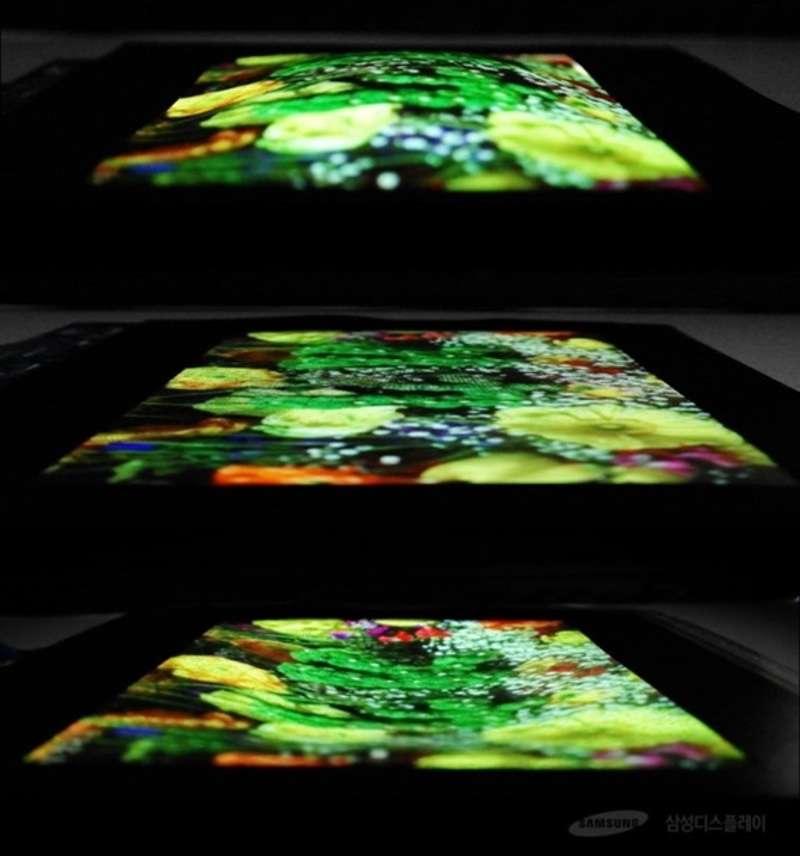 Samsung показала перший розтяжний OLED-дисплей