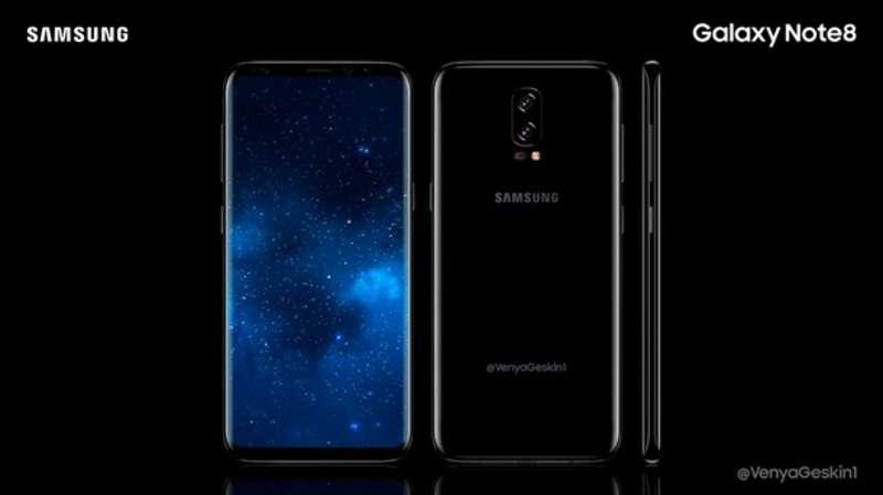 З'явилися зображення флагмана Samsung Galaxy Note 8