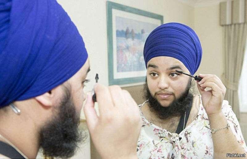 Жінка з бородою вважає себе красунею