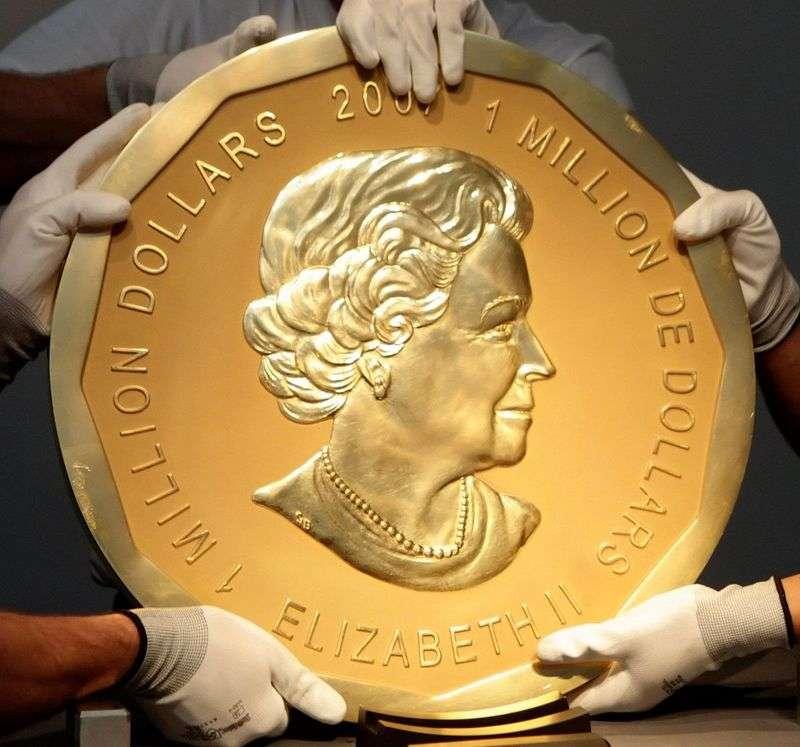 В Німеччині злодії вкрали 100-кілограмову монету