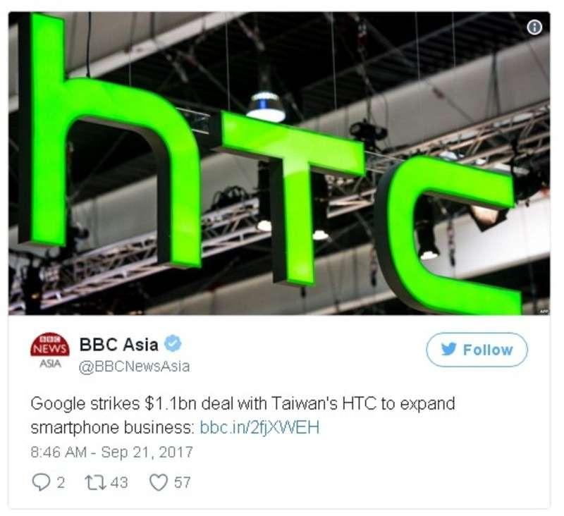 Компанія Google хоче купити мобільний бізнес HTC