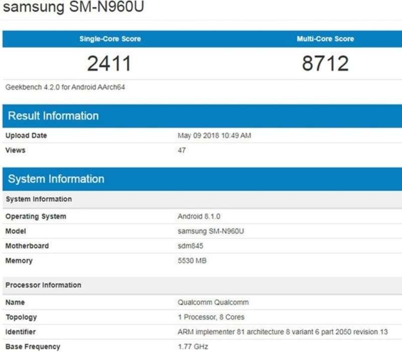 Galaxy Note 9 показали на неофіційному рендері