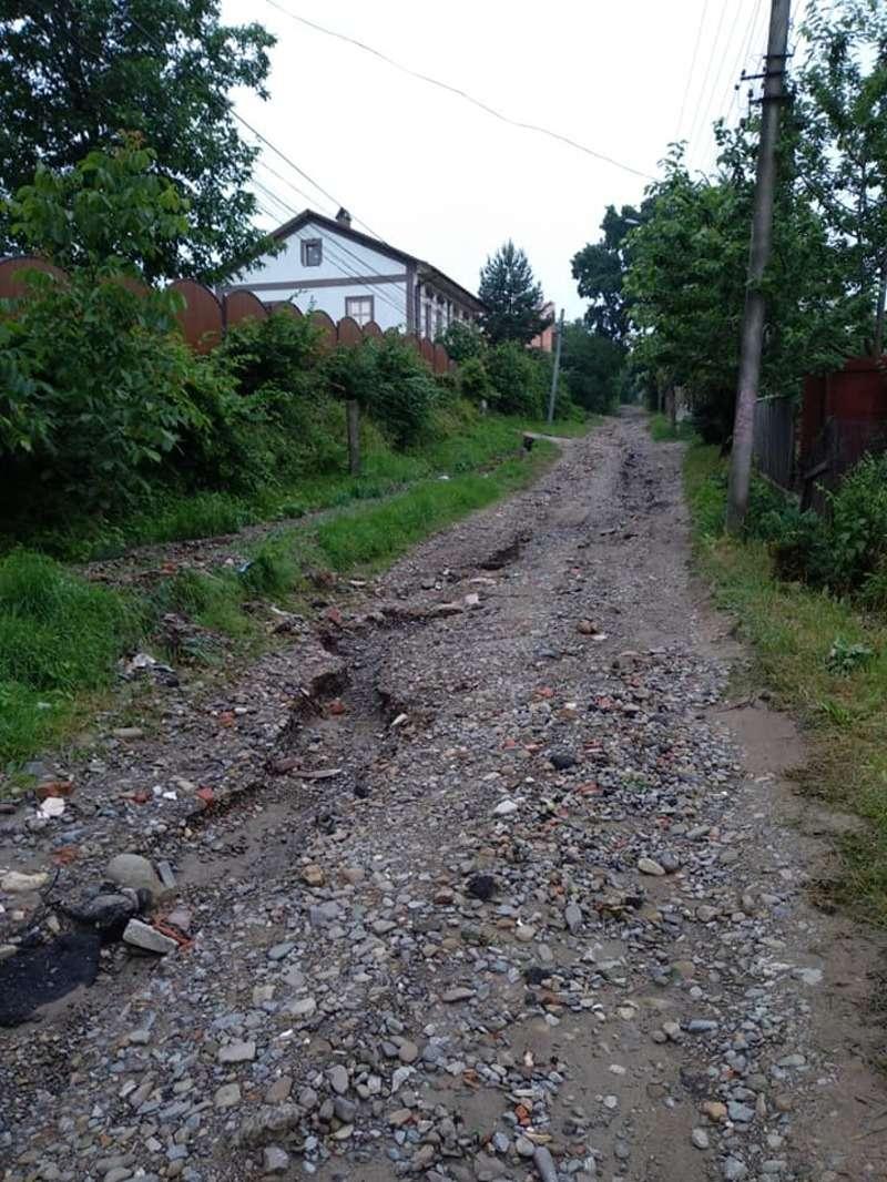 У соцмережі з'явилися фото жахливої дороги в районі Роша у Чернівцях