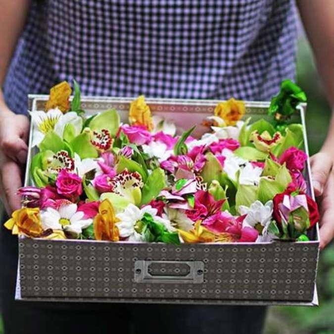 Доставка цветов в корзине киев оплата картой