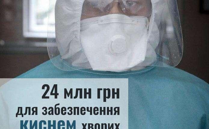 Чернівецька область отримає 24 млн грн для забезпечення киснем пацієнтів з COVID-19