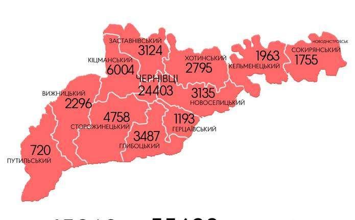 Наразі від COVID-19 одужали 45268 буковинців